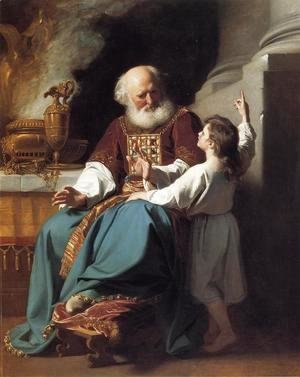 John Singleton Copley - Samuel Reading to Eli the Judgments of God Upon Eli's House