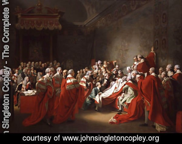John Singleton Copley - The Collapse of the Earl of Chatham in the House of Lords (or The Death of the Earl of Chatham)