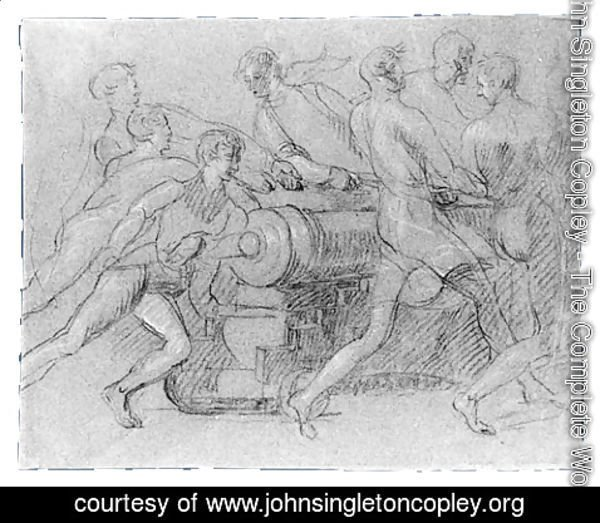 John Singleton Copley - Sailors Maneuvering a Cannon, Possibly a Study for