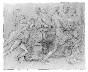 Sailors Maneuvering a Cannon, Possibly a Study for
