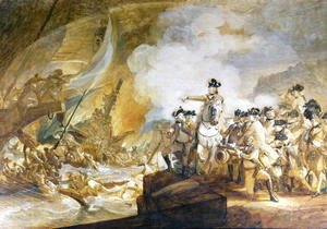 John Singleton Copley - The Siege and Relief of Gibraltar, 14th September 1782, c.1783