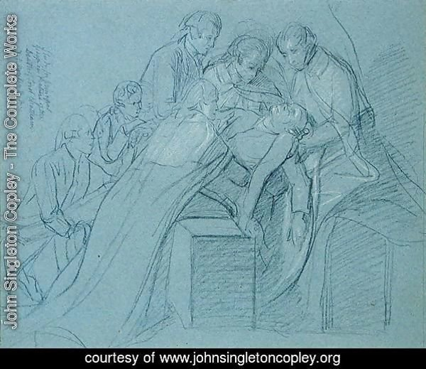 Study for the Central Group in the Death of Earl of Chatham