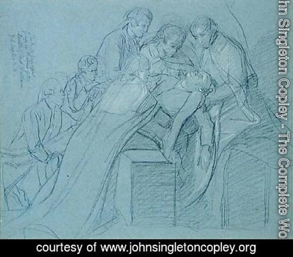 John Singleton Copley - Study for the Central Group in the Death of Earl of Chatham