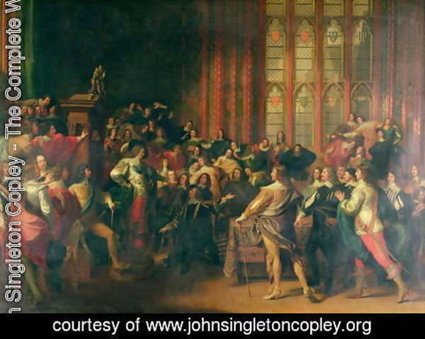 John Singleton Copley - Charles I (1600-49) Demanding the Five Members in the House of Commons in 1642