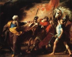 John Singleton Copley - Saul Reproved by Samuel for Not Obeying the Commandments of the Lord