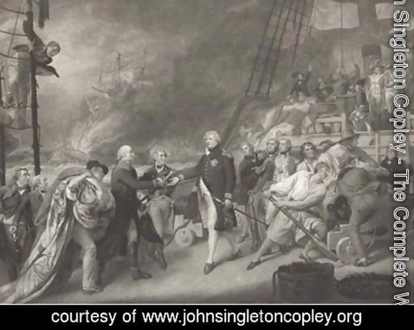 John Singleton Copley - The victory of Lord Duncan, by James Ward