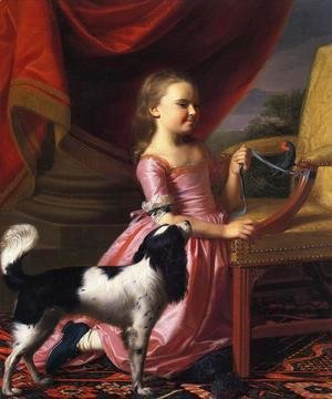 John Singleton Copley - Young Lady with a Bird and Dog